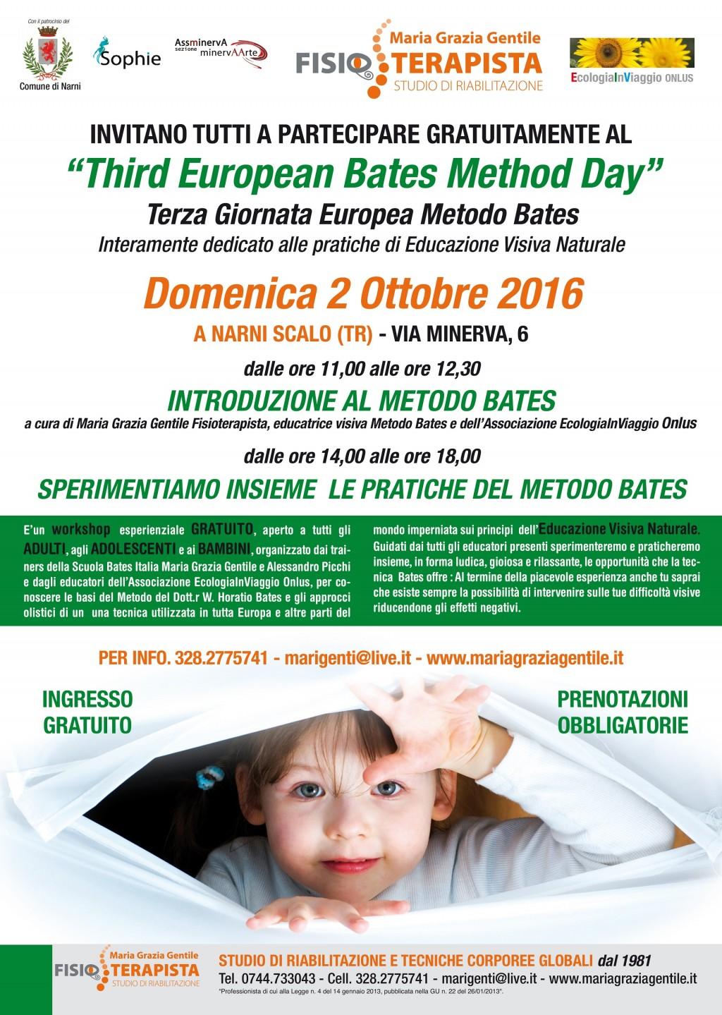 Il Magico Vedere 2016: Terza Giornata Europea Metodo Bates - 02/10/2016